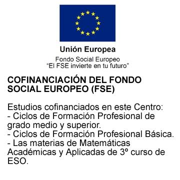 COFINANCIACIÓN DEL FONDO SOCIAL EUROPEO (FSE)